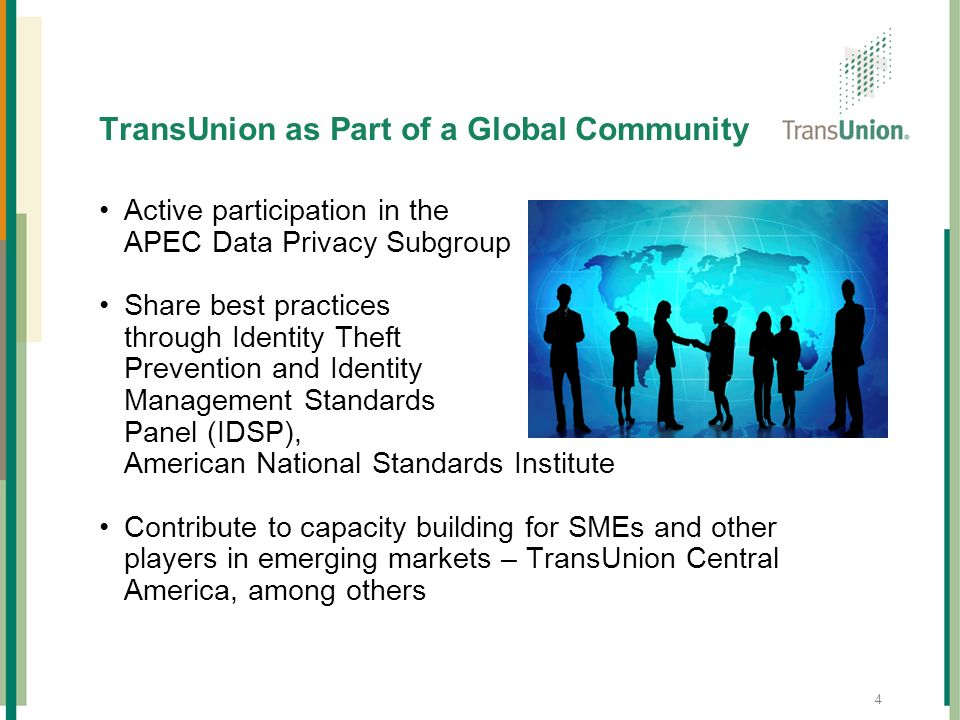 TransUnion as Part of a Global Community
