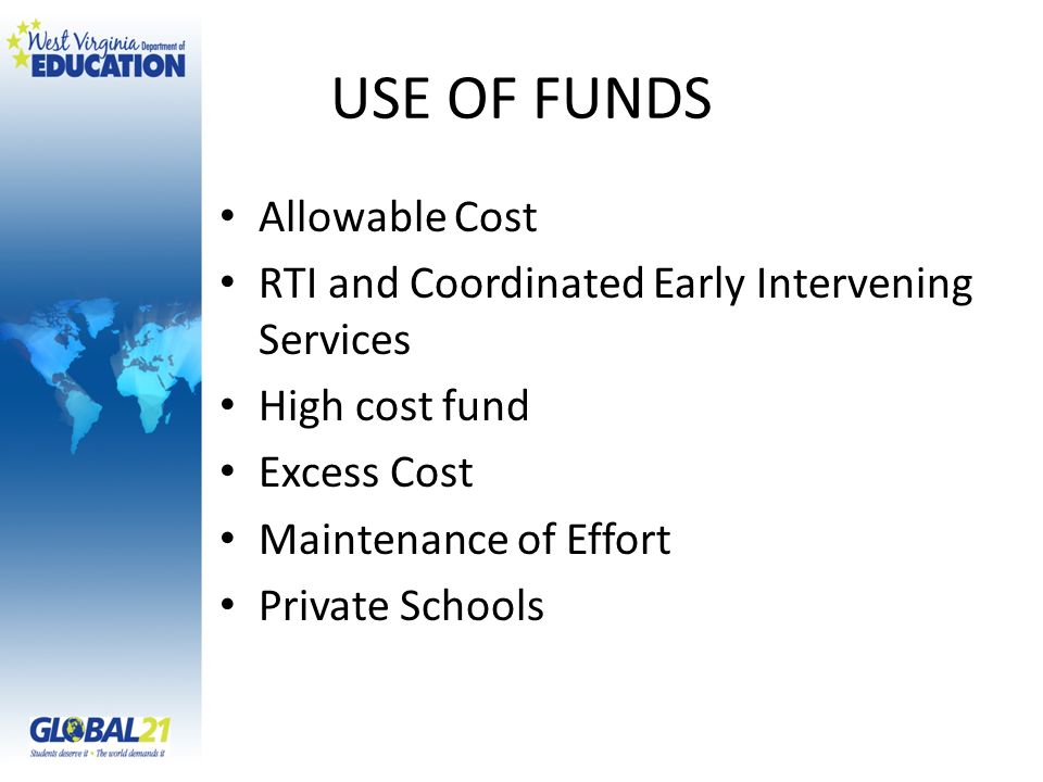 USE OF FUNDS Allowable Cost