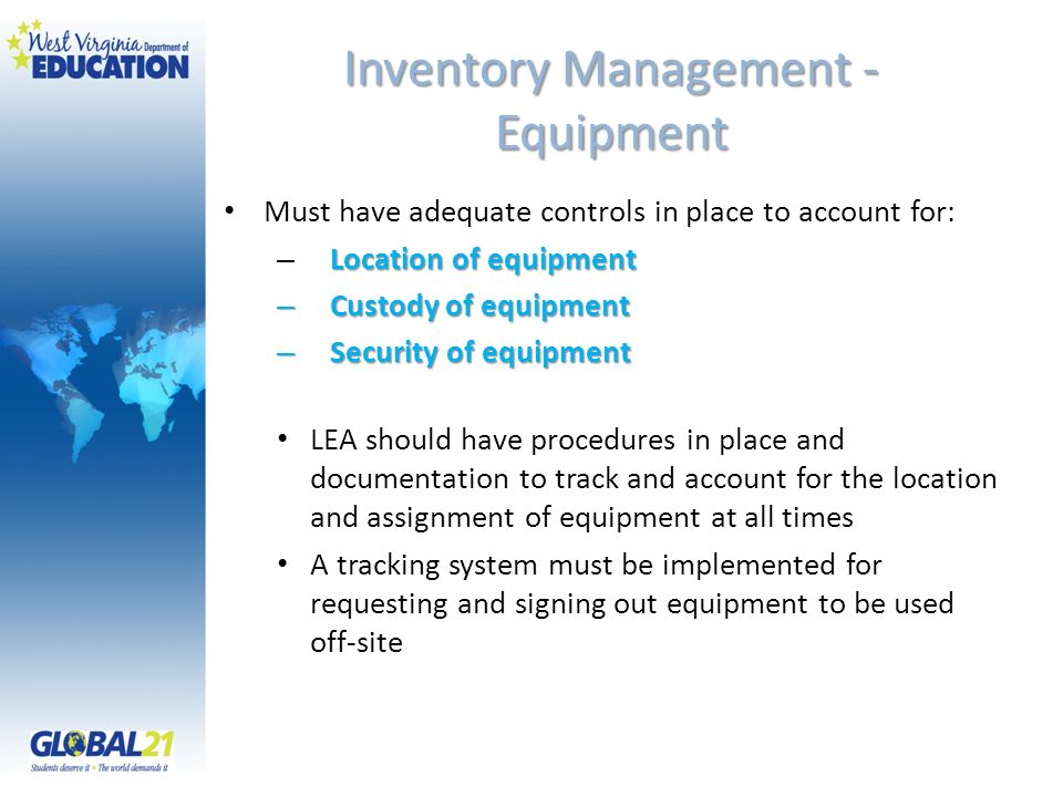 Inventory Management - Equipment
