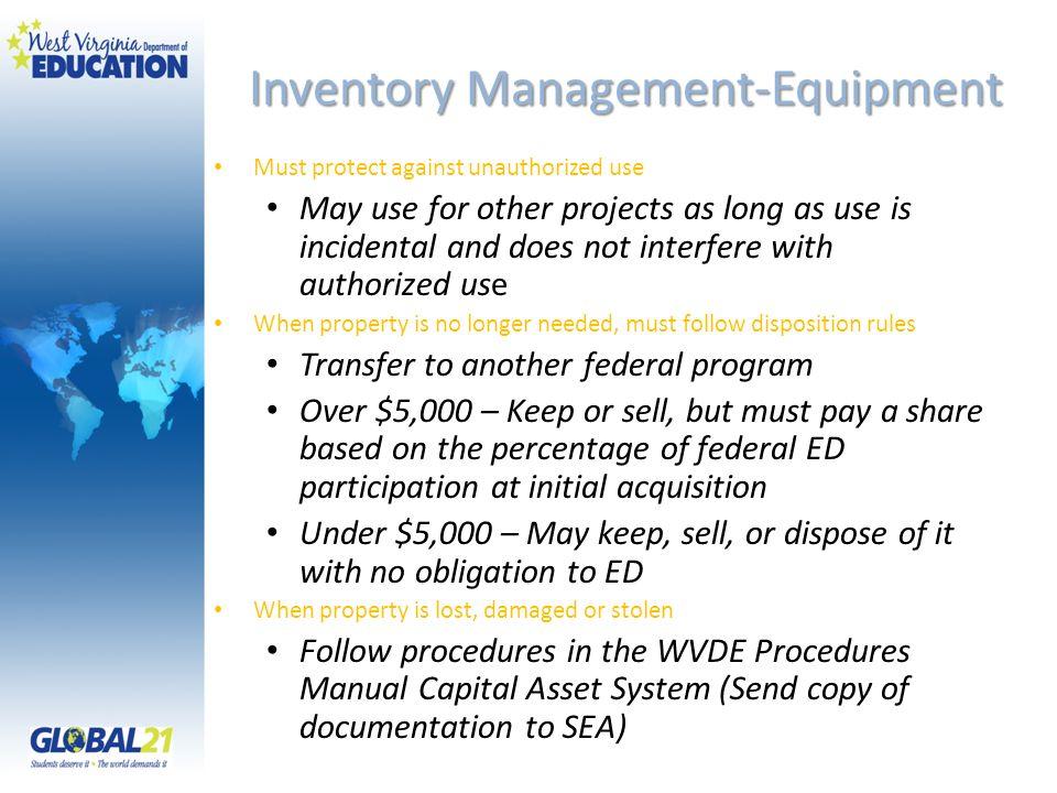Inventory Management-Equipment