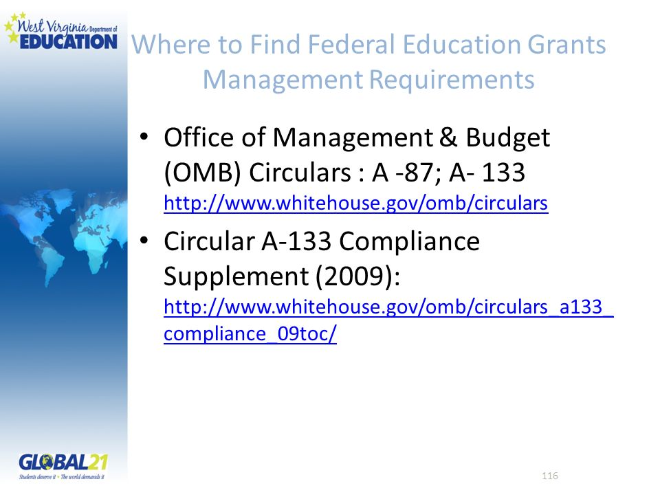 Where to Find Federal Education Grants Management Requirements