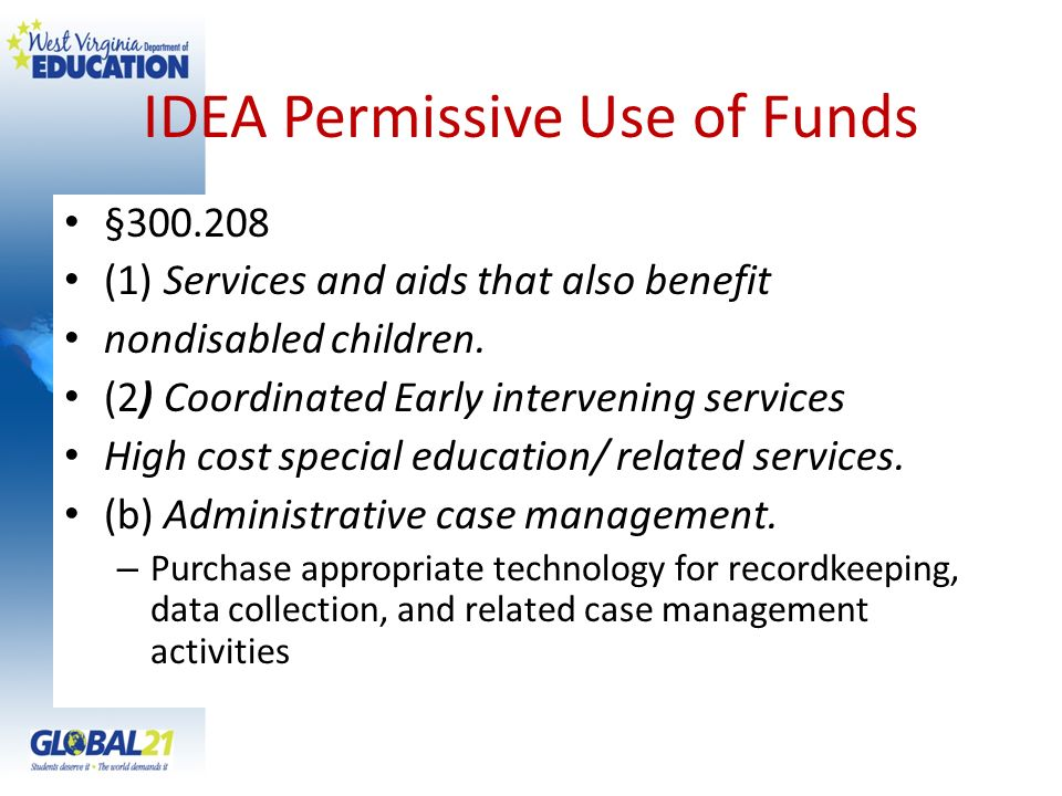 IDEA Permissive Use of Funds