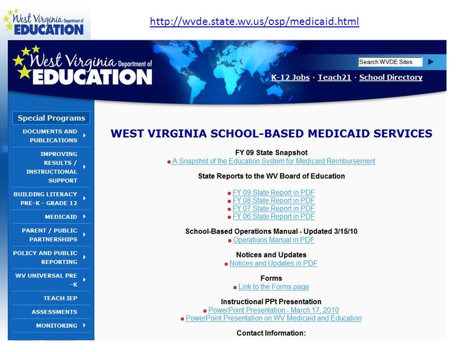 http://wvde.state.wv.us/osp/medicaid.html
