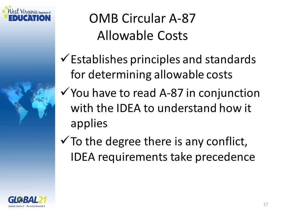 OMB Circular A-87 Allowable Costs