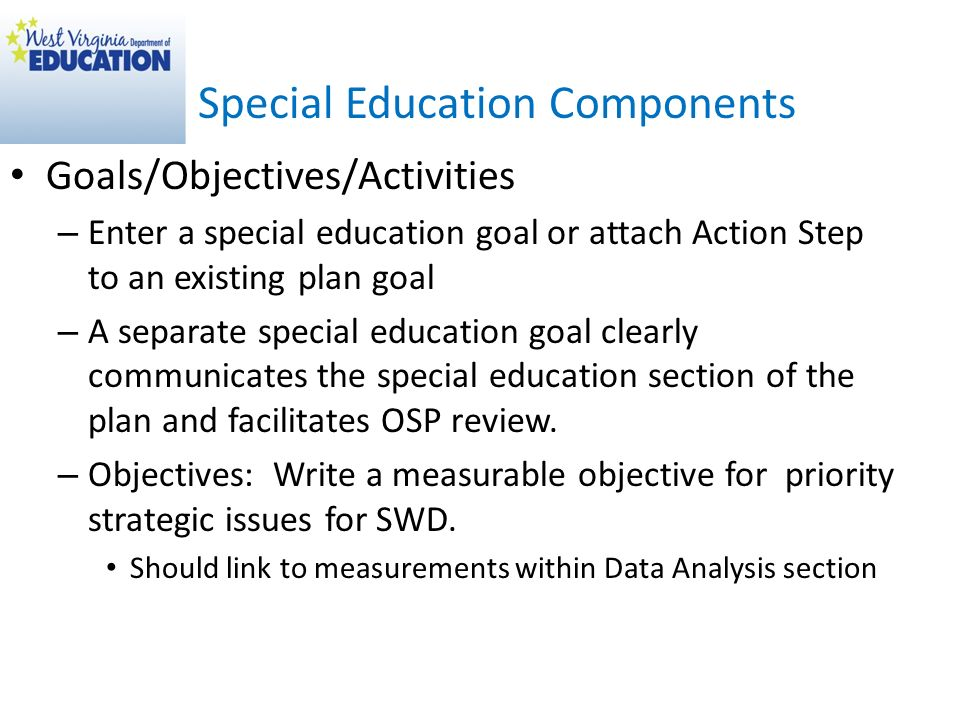 Special Education Components