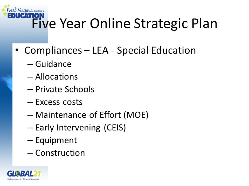 Five Year Online Strategic Plan