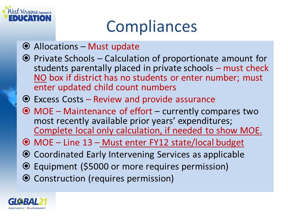 Compliances Allocations – Must update