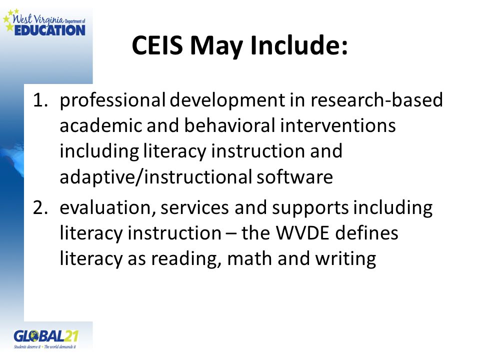 CEIS May Include:
