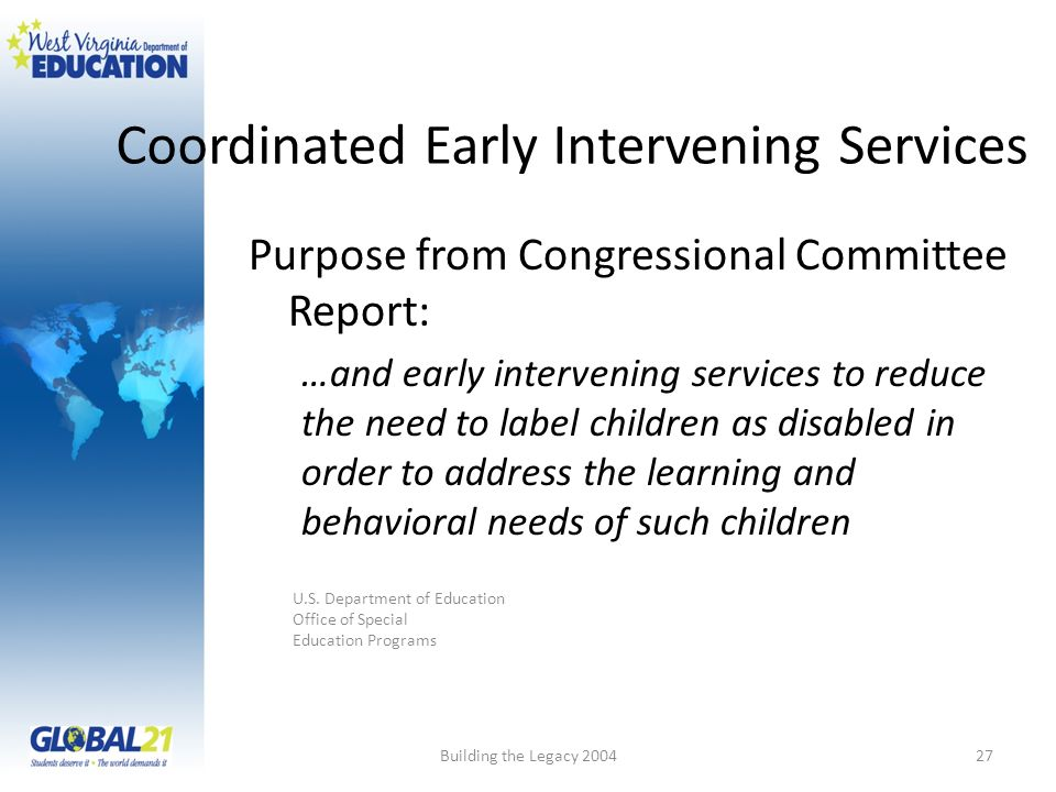 Coordinated Early Intervening Services