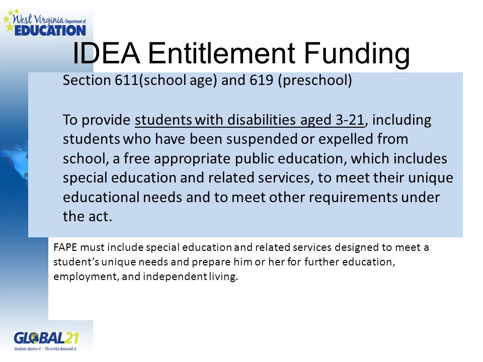 IDEA Entitlement Funding
