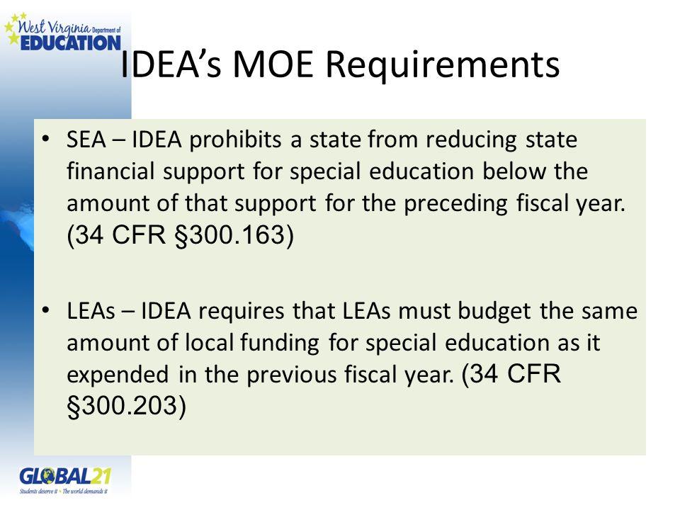 IDEA's MOE Requirements