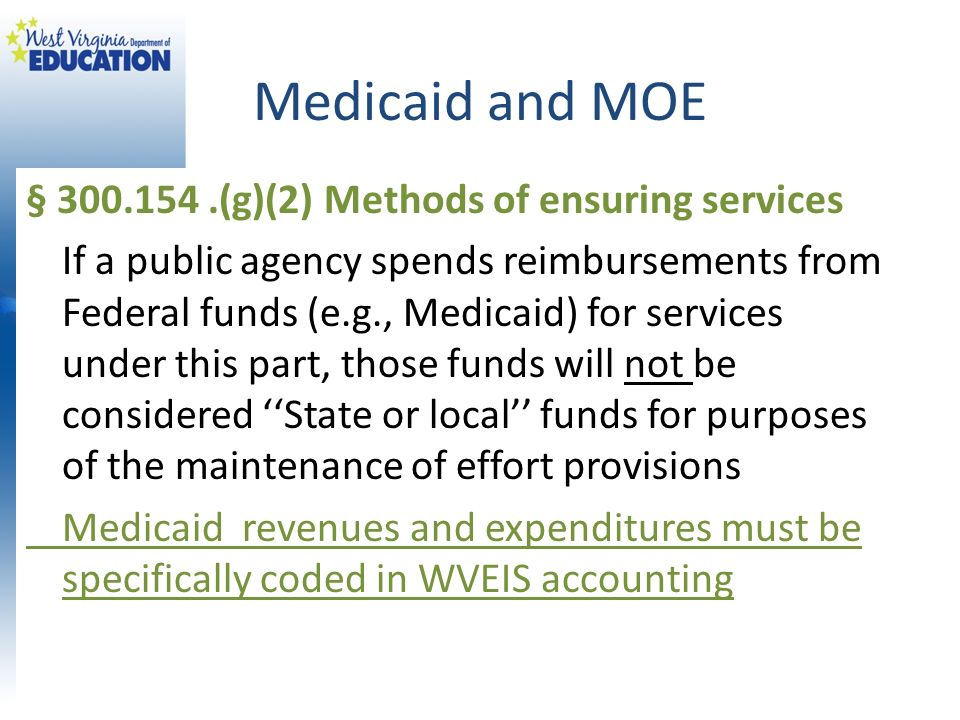 Medicaid and MOE