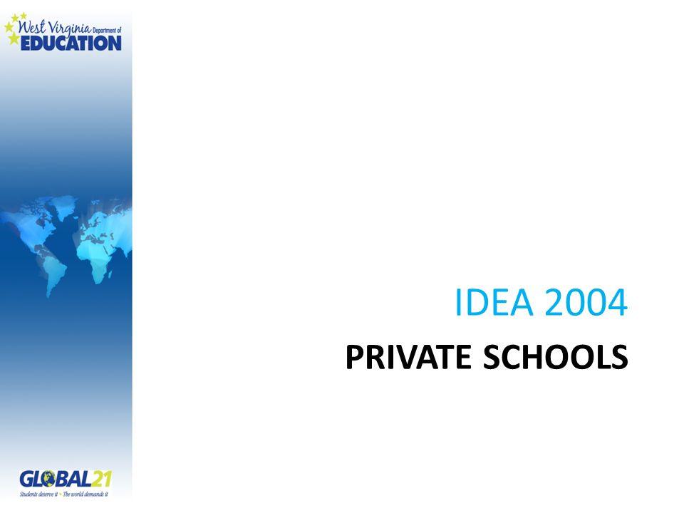 IDEA 2004 Private Schools