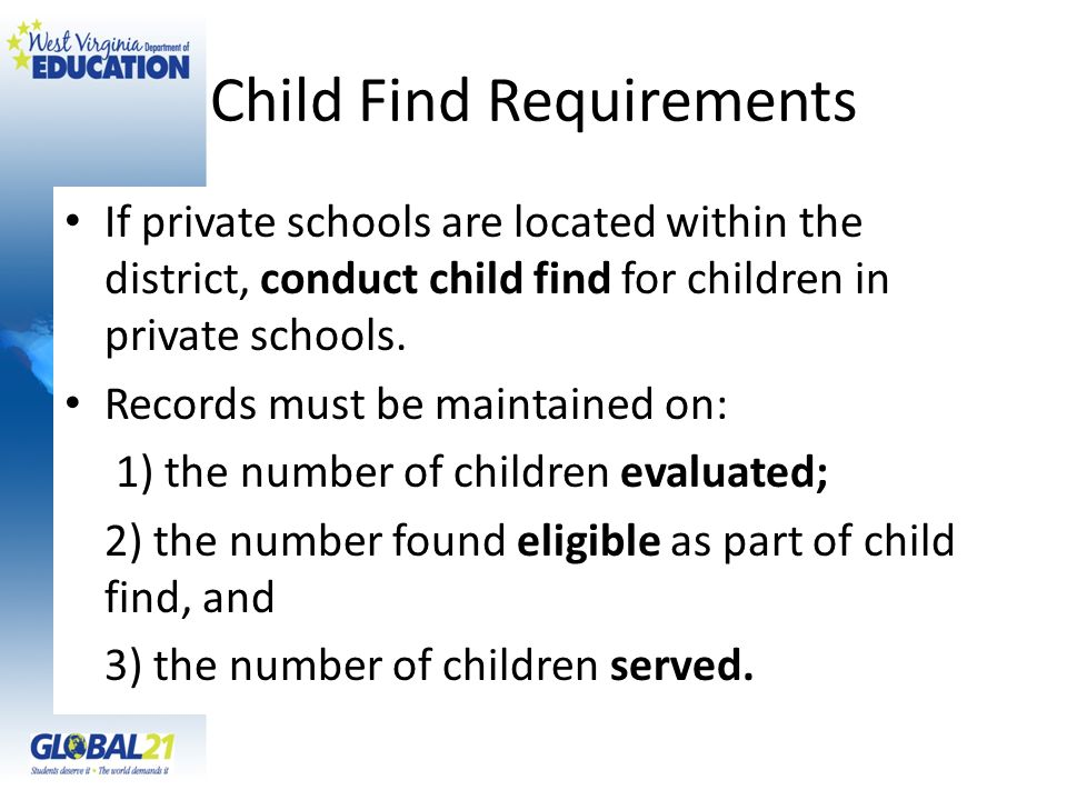 Child Find Requirements