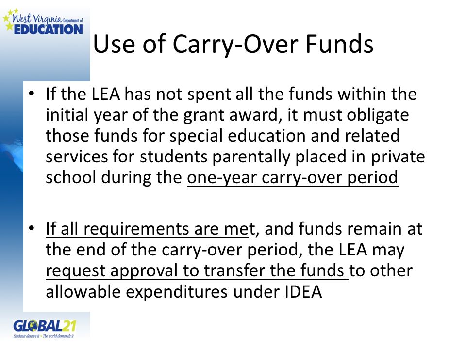 Use of Carry-Over Funds