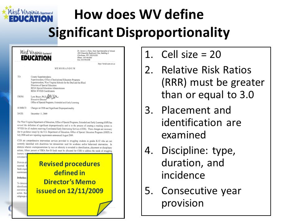 How does WV define Significant Disproportionality