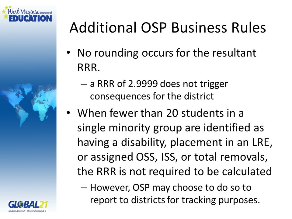Additional OSP Business Rules
