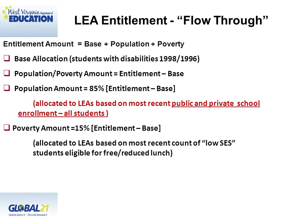 LEA Entitlement - Flow Through