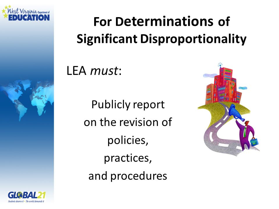 For Determinations of Significant Disproportionality
