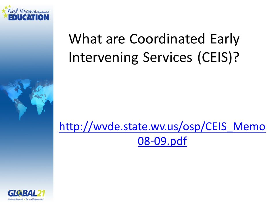 What are Coordinated Early Intervening Services (CEIS)