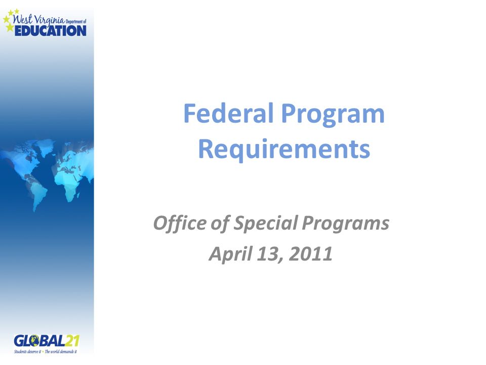 Federal Program Requirements