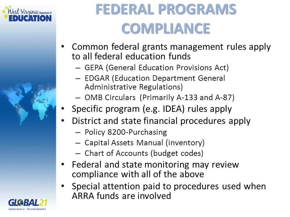 FEDERAL PROGRAMS COMPLIANCE