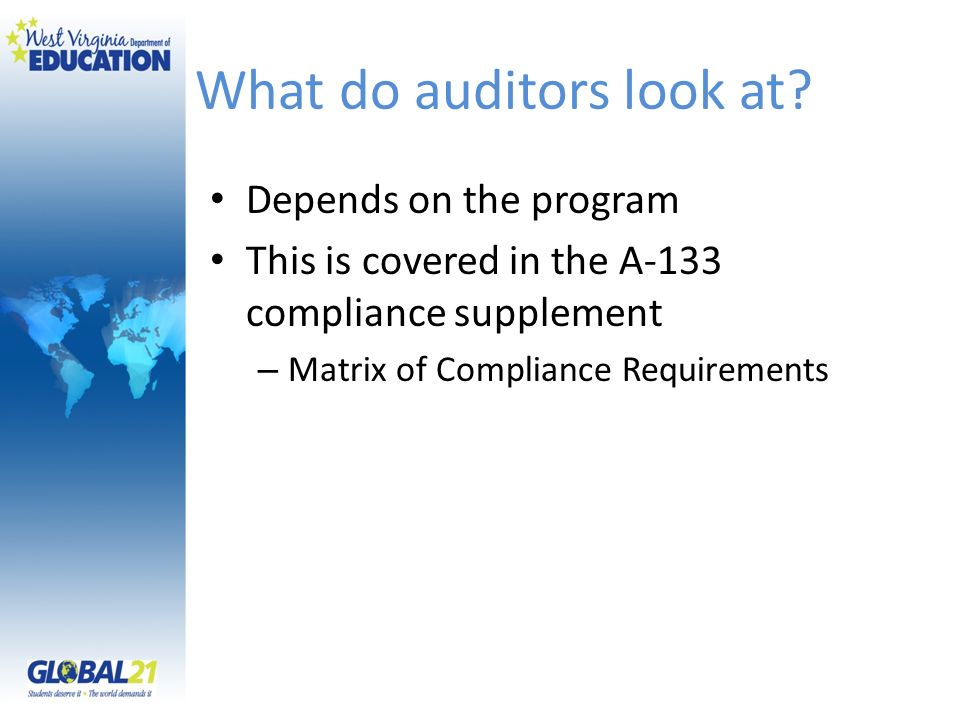 What do auditors look at