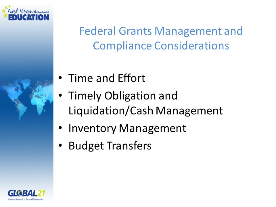 Federal Grants Management and Compliance Considerations