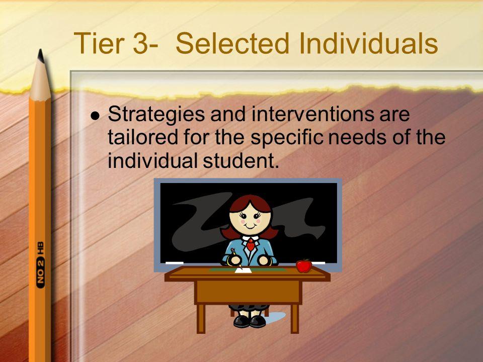 Tier 3- Selected Individuals