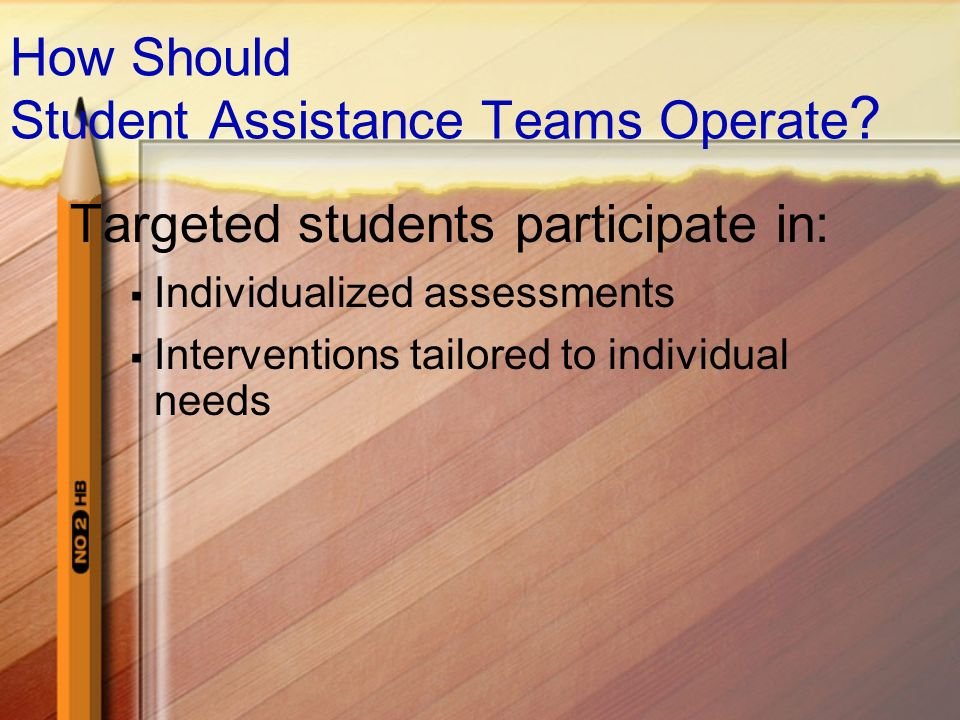 How Should Student Assistance Teams Operate