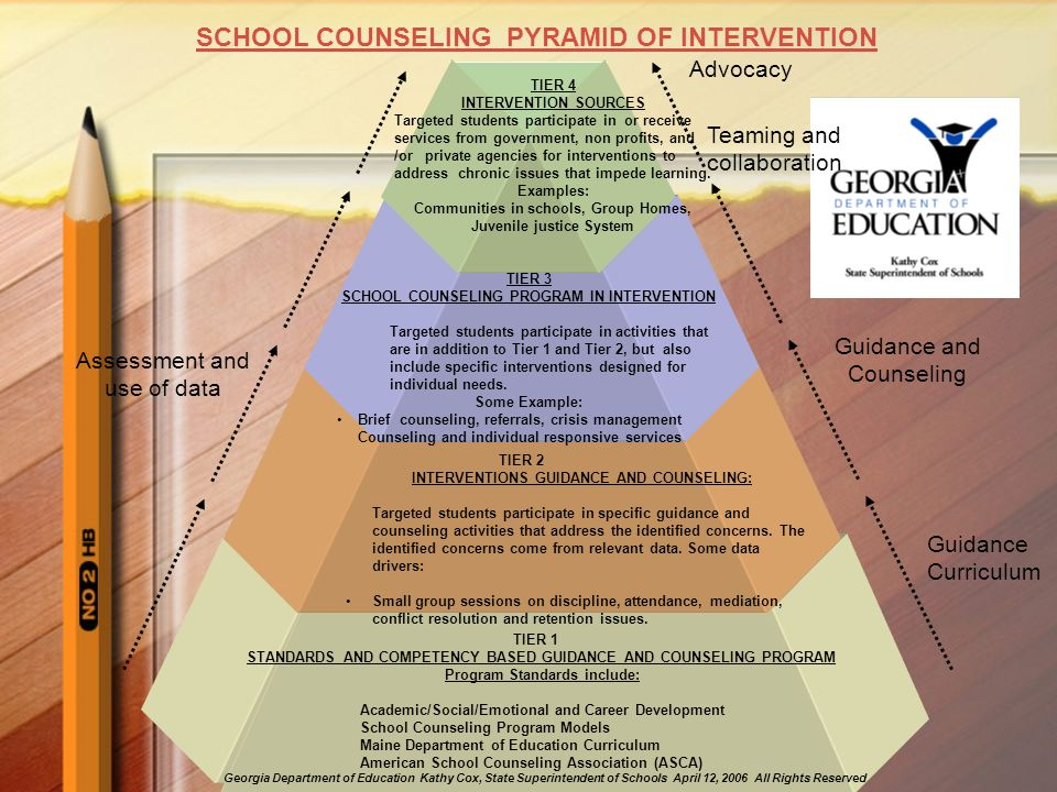 SCHOOL COUNSELING PYRAMID OF INTERVENTION