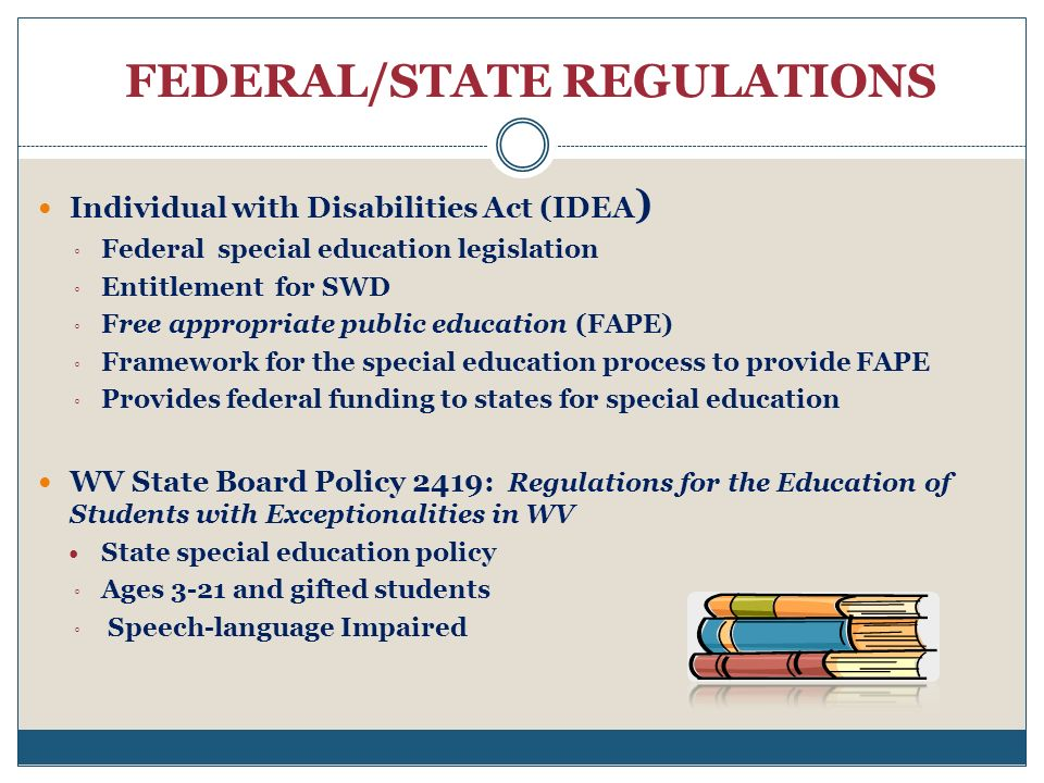 FEDERAL/STATE REGULATIONS