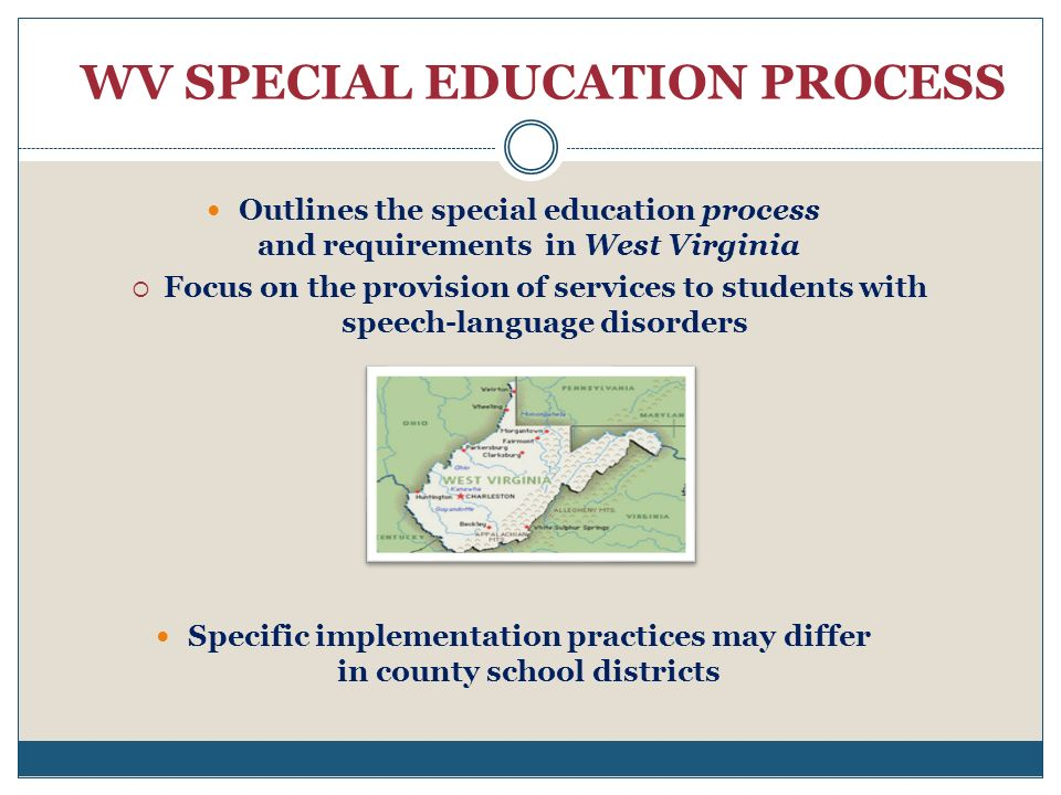 WV SPECIAL EDUCATION PROCESS