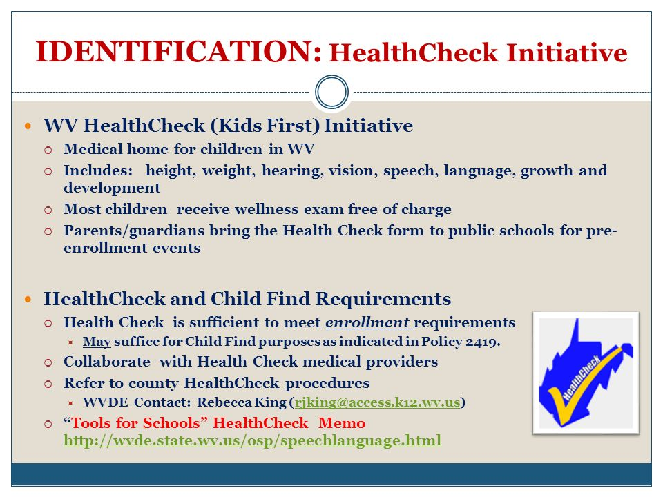 IDENTIFICATION: HealthCheck Initiative
