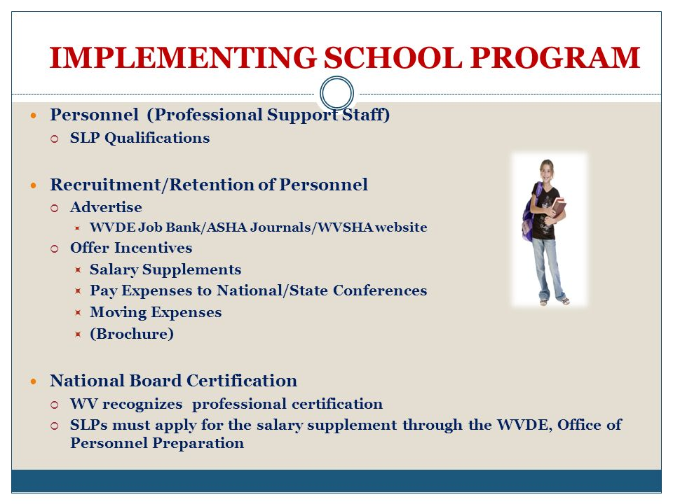 IMPLEMENTING SCHOOL PROGRAM