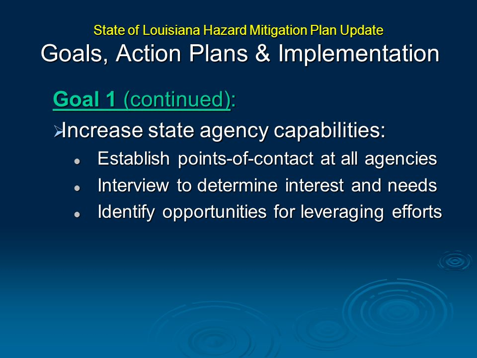 Increase state agency capabilities: