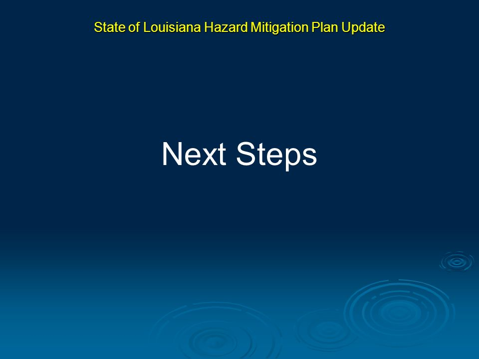State of Louisiana Hazard Mitigation Plan Update