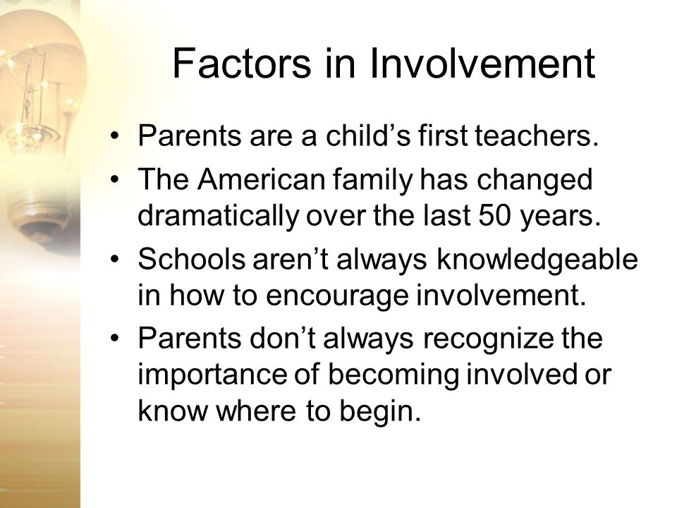 Factors in Involvement