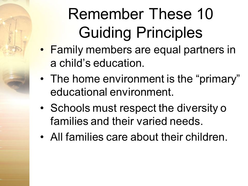 Remember These 10 Guiding Principles