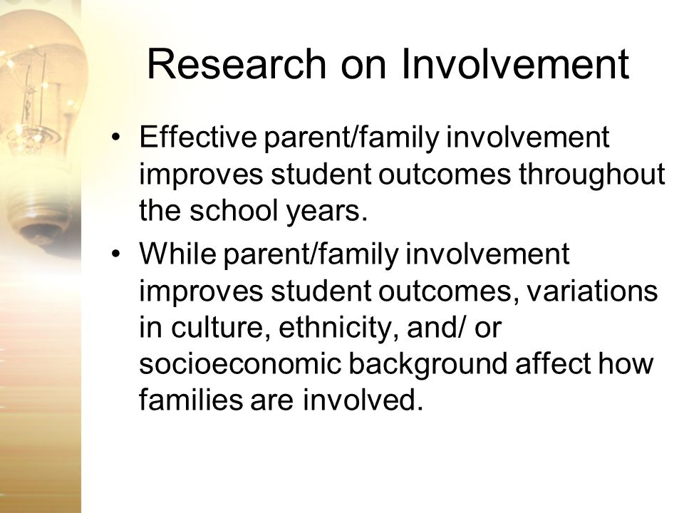 Research on Involvement