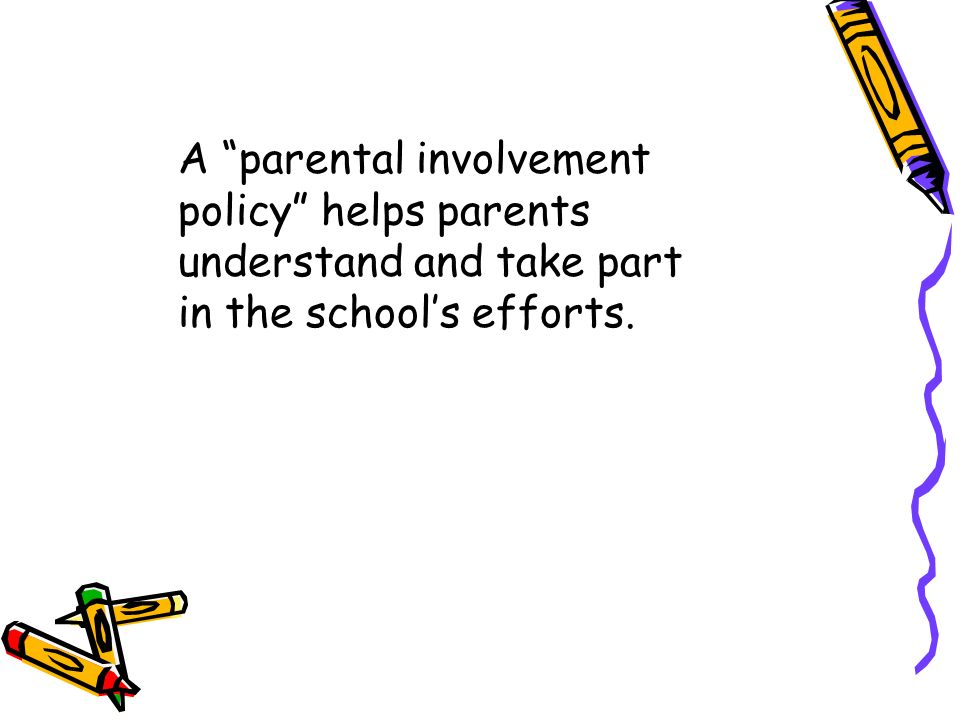 Title I may also help students by offering parenting skills workshops for parents.
