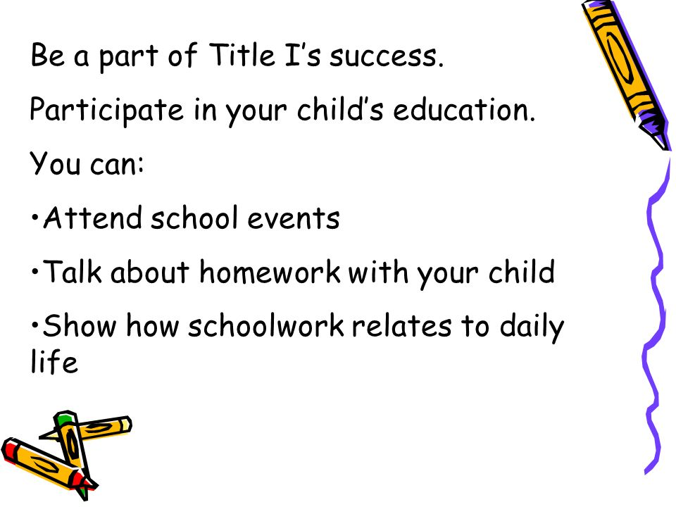 Title I programs generally offer: