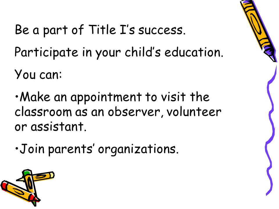 Title I serves children through one of two types of programs: