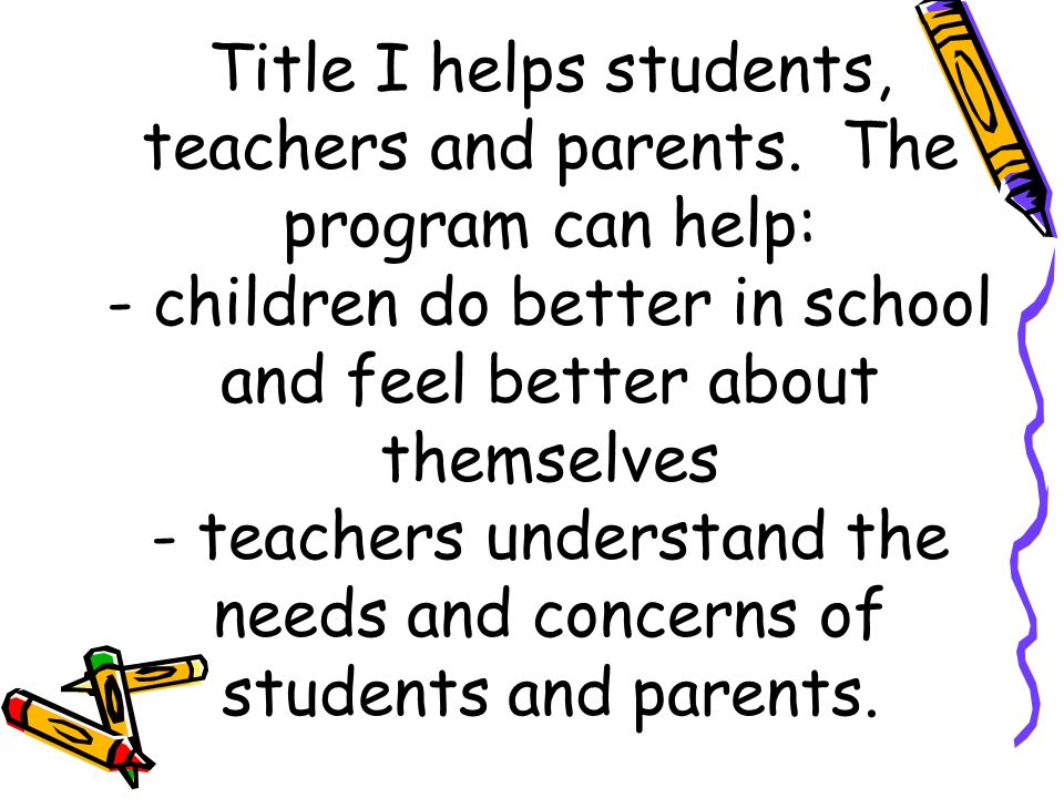 What is Title I It's the nation's largest federal assistance program for schools.