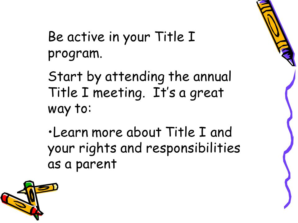 Title I helps students, teachers and parents