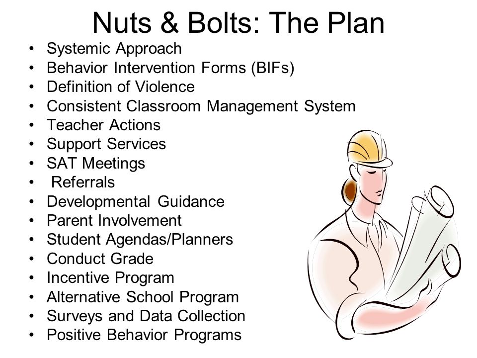 Nuts & Bolts: The Plan Systemic Approach