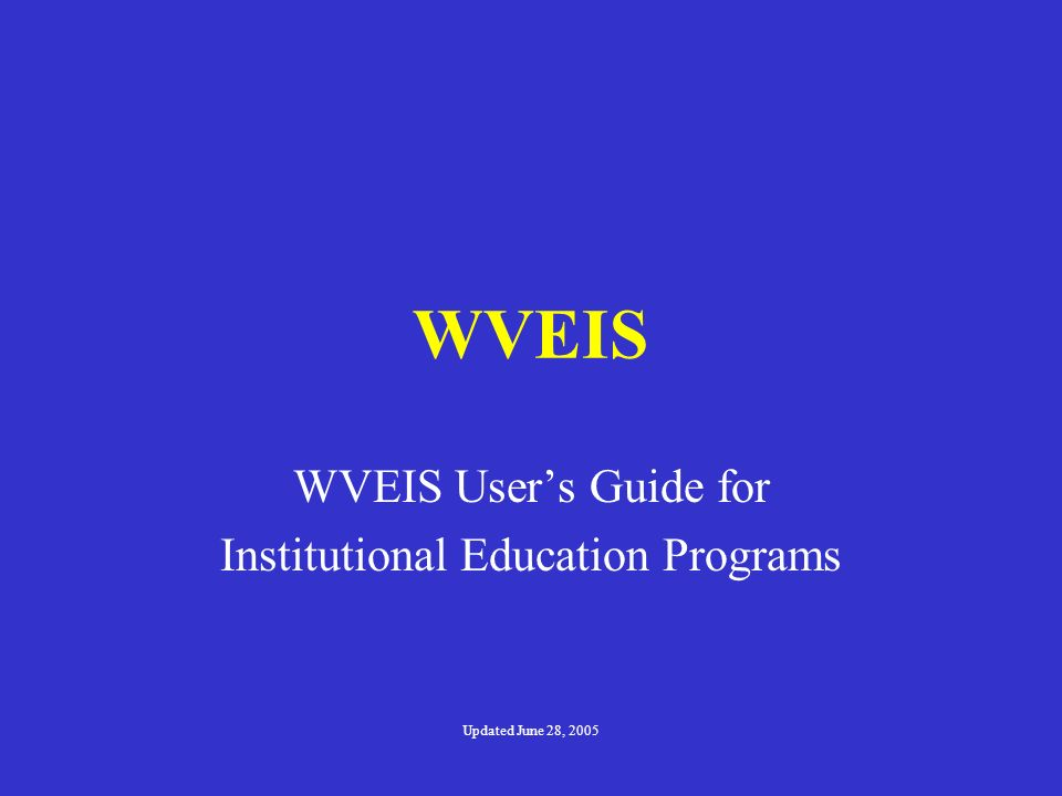 Institutional Education Programs