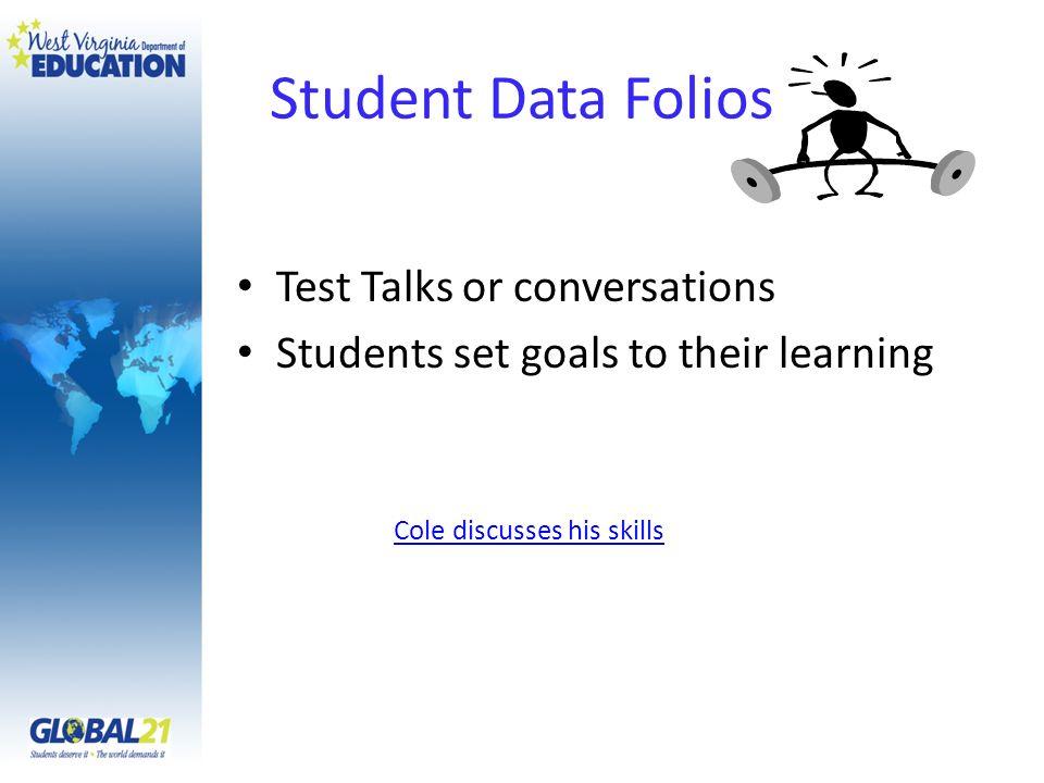 Student Data Folios Test Talks or conversations