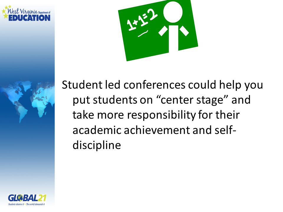 Student led conferences could help you put students on center stage and take more responsibility for their academic achievement and self-discipline