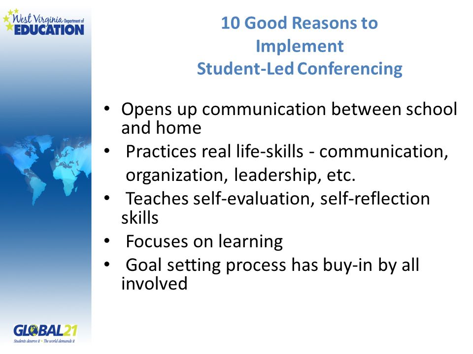 10 Good Reasons to Implement Student-Led Conferencing